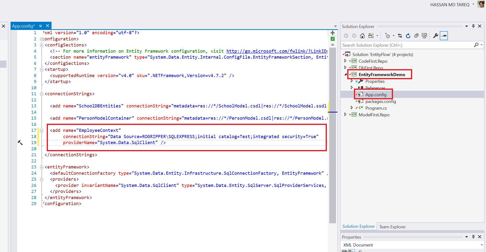 Entity Framework Code Fisrt Approach - Creating edmx from DbContext Step 14